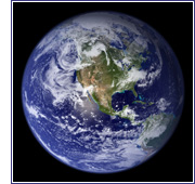 "Enhanced NASA Terra Satellite ""Blue Marble "" image.